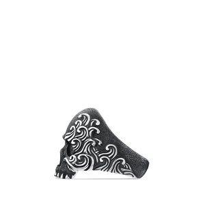 Skull Ring with Black Diamonds alternative image