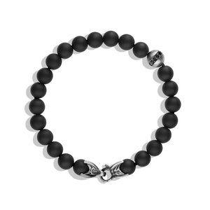 Spiritual Beads Bracelet with Black Onyx and Black Diamonds alternative image