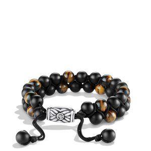 Spiritual Beads Two-Row Bracelet with Black Onyx and Tiger's Eye