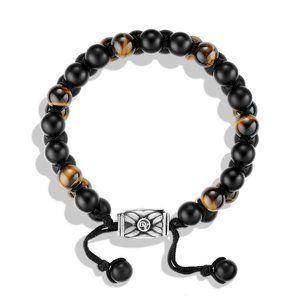 Spiritual Beads Two-Row Bracelet with Black Onyx and Tiger's Eye alternative image