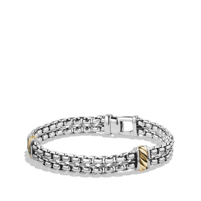 Two-row Chain Bracelet with 18K Gold