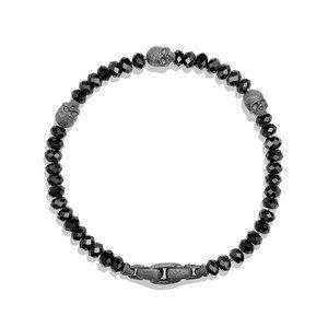 Skull Station Bracelet in Black Spinel alternative image