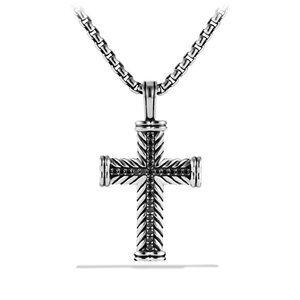 Chevron Cross with Black Diamonds