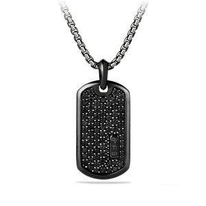 Pave Tag with Black Diamonds and Black Titanium