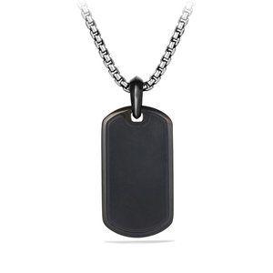 Pave Tag with Black Diamonds and Black Titanium alternative image