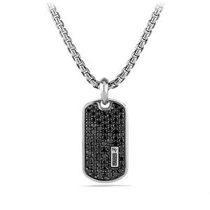 Pave Tag with Black Diamonds