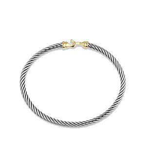 Kids 3mm Buckle Bracelet in Sterling Silver and 18k Yellow Gold alternative image