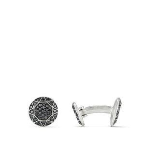 Pavé Cufflinks with Black Diamonds