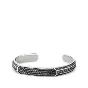 Pavé Heirloom Cuff Bracelet with Black Diamonds