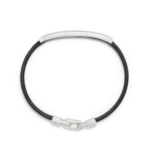 Pavé Leather ID Bracelet with Black Diamonds alternative image