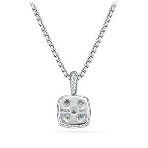 Pendant Necklace with Prasiolite and Diamonds alternative image