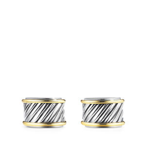 Cable Cigar Band Cuff Links with Gold alternative image