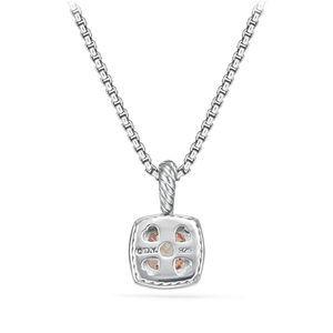 Petite Albion® Pendant Necklace with Morganite and Diamonds alternative image