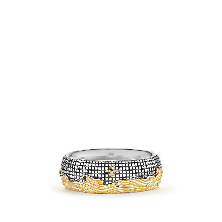 Band Ring with Gold
