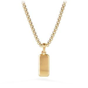 Streamline Amulet in 18K Gold