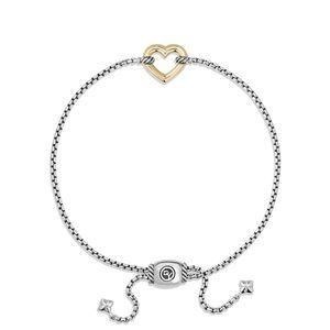 Heart Station Bracelet with 18K Gold alternative image