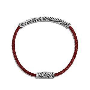 Leather Bracelet in Red alternative image