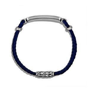Station Blue Leather Bracelet with Lapis Lazuli alternative image
