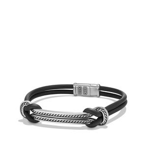 Maritime Rubber ID Bracelet in Black