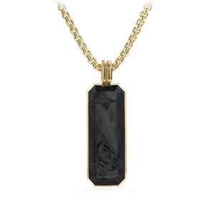 Forged Carbon Ingot Tag with 18K Gold alternative image