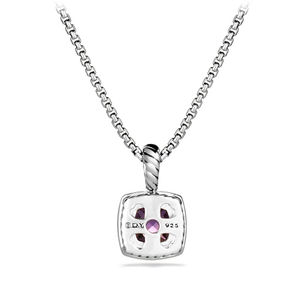 Pendant Necklace with Amethyst and Diamonds alternative image