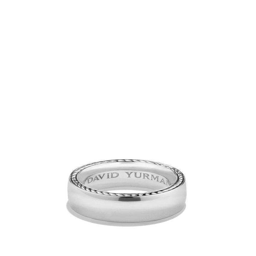 Streamline® Band Ring in Platinum