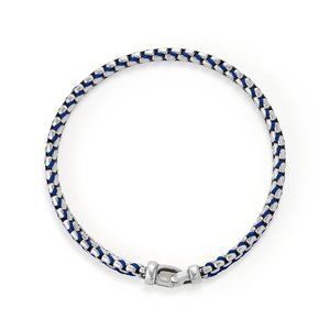 Woven Box Chain Bracelet in Blue alternative image