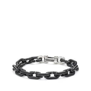 Chain Link Bold Bracelet with Black Titanium
