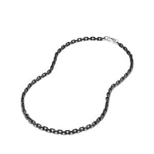 Chain Link Narrow Neckace with Black Titanium alternative image