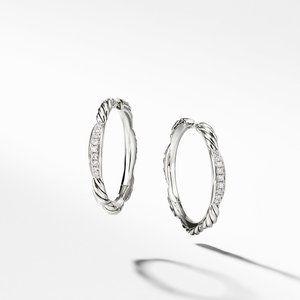 Tides Hoop Earrings with Diamonds