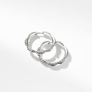 Tides Hoop Earrings with Diamonds alternative image