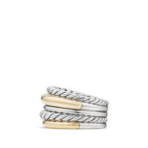 Pure Form® Wide Ring with 18K Gold alternative image