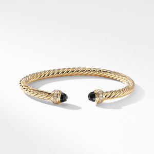 Cable Bracelet in 18K Gold with Black Onyx and Diamonds alternative image