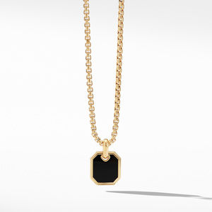 Roman Amulet in 18K Gold with Black Onyx