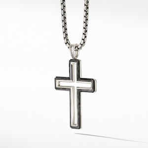 Forged Carbon Cross Pendant alternative image