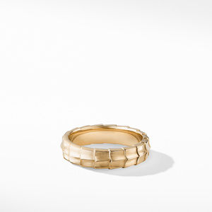 Armory Band Ring in 18K Yellow Gold