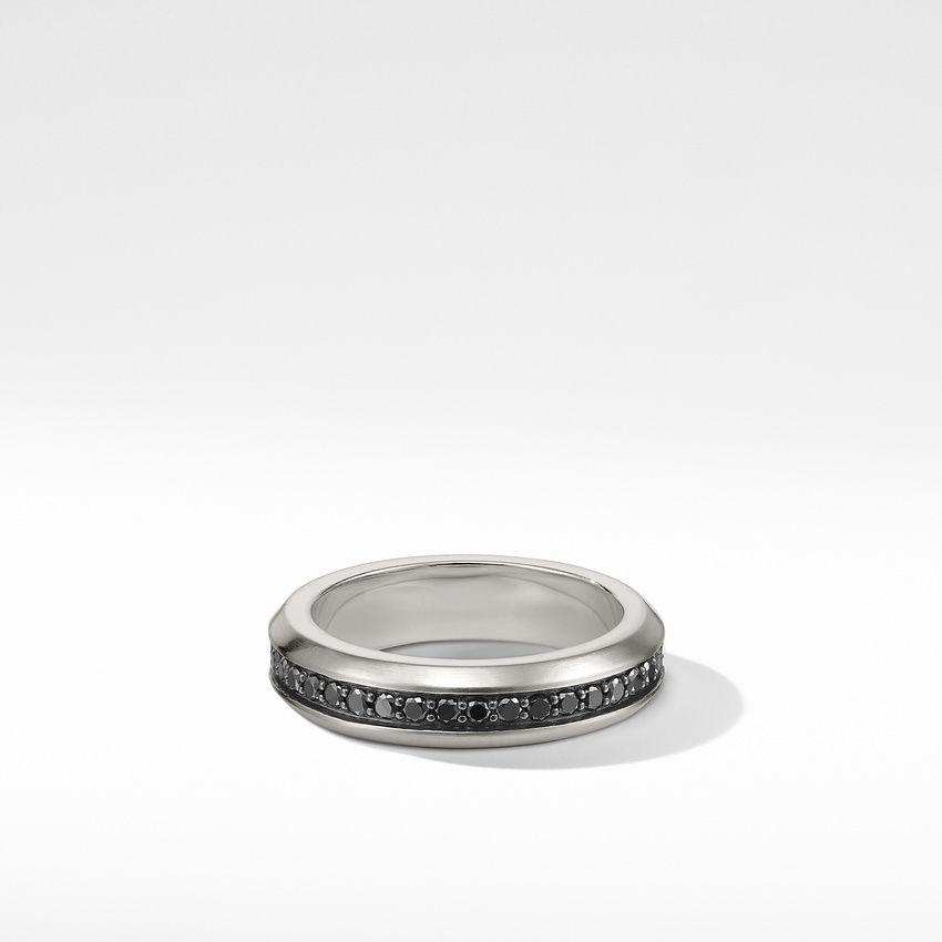 Streamline® Band Ring with Black Diamonds