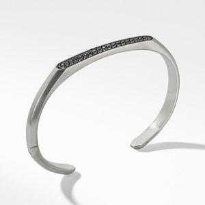 Streamline® Cuff Bracelet with Black Diamonds