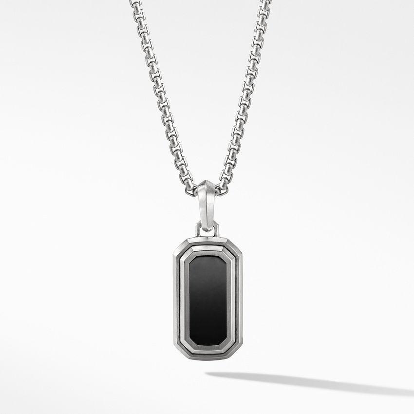 Deco Amulet with Black Onyx