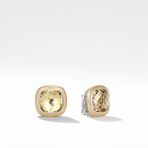 Albion® Stud Earrings with 18K Gold and Champagne Citrine