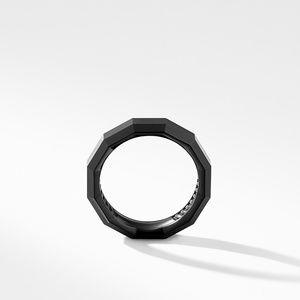 Faceted Band Ring in Black Titanium alternative image