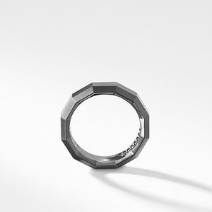 Faceted Band Ring in Grey Titanium alternative image