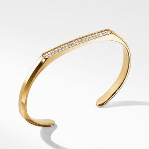 Streamline® Cuff Bracelet  in 18K Yellow Gold with Diamonds