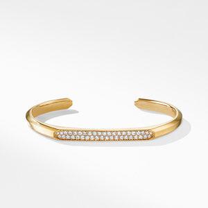Streamline® Cuff Bracelet  in 18K Yellow Gold with Diamonds alternative image