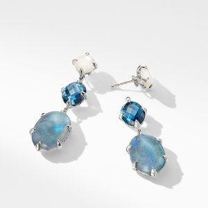 Chatelaine® Drop Earrings with Labradorite, Hampton Blue Topaz, and White Moonstone alternative image