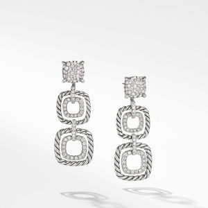 Chatelaine® Full Pave Triple Drop Earrings