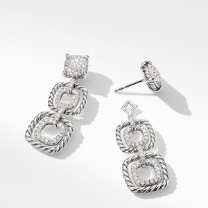 Chatelaine® Full Pave Triple Drop Earrings alternative image