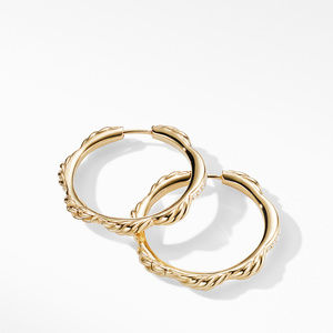 Tides Hoop Earrings in 18K Yellow Gold with Diamonds alternative image