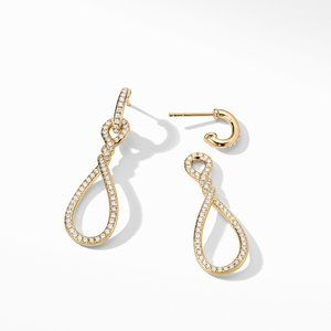 Continuance® Full Pavé Small Drop Earrings in 18K Yellow Gold alternative image