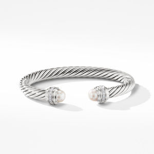 Cable Bracelet with Pearls and Diamonds alternative image